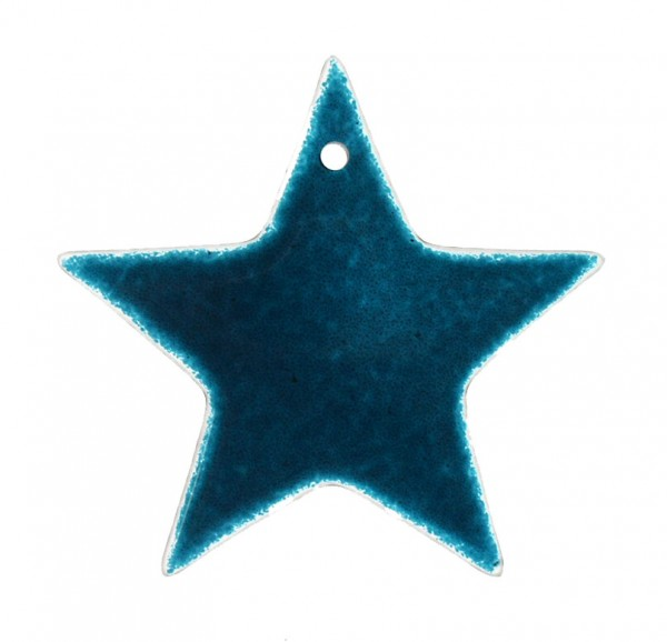 Fusingglas Stern 12 cm / mit Loch