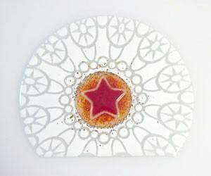 Fusingglas abgeschnittener Kreis 20 cm