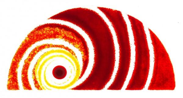 Fusingglas Halbkreis 26 x 13 cm
