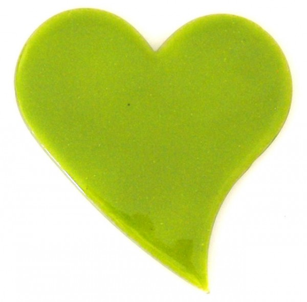 Fusingglas 15 cm Herz geschwungen
