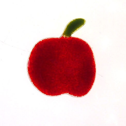 Fusingglas Motiv Apfel 6 cm