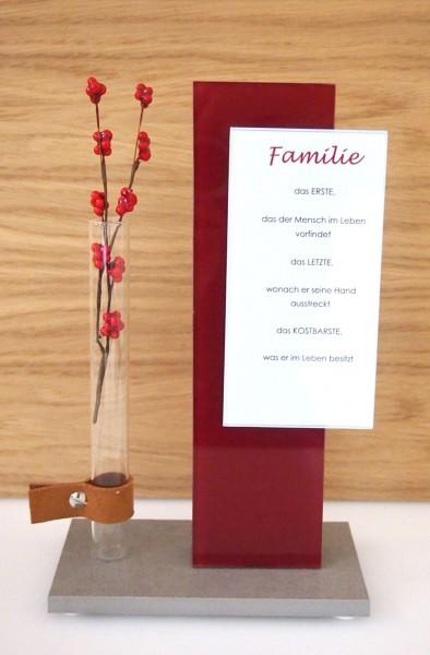 "Glasobjekt ""Familie"""
